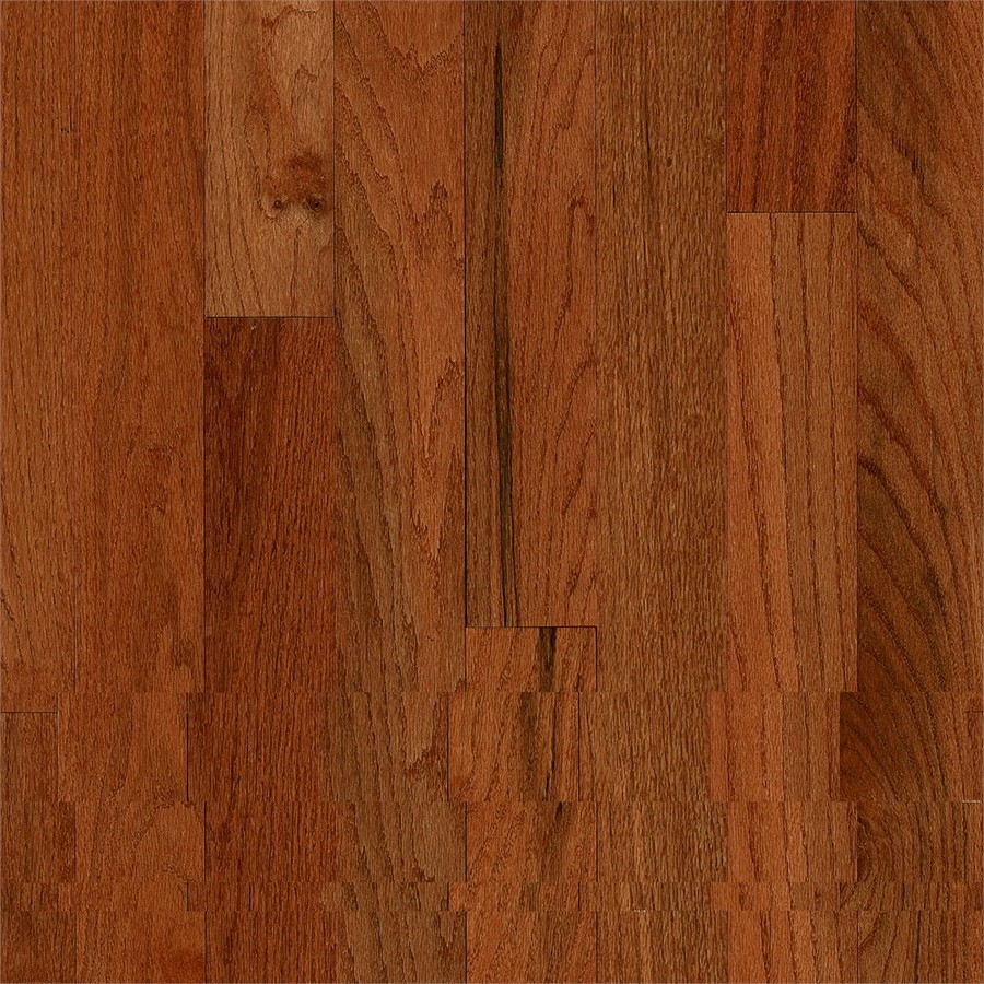 America's Best Choice Prefinished Gunstock Oak Smooth/Traditional 3/4-in Solid Hardwood Flooring Sample in Brown | - Bruce 731OLABC1401