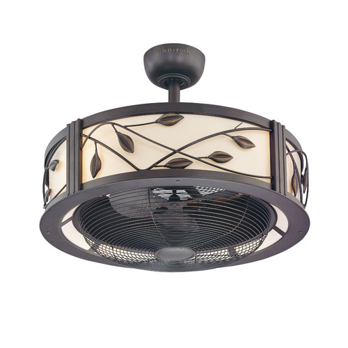 Lowes Allen Roth 23 Inch Leaf Light Aged Bronze Ceiling