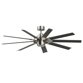 Shop ceiling fans at lowes display product reviews for slinger v2 72 in brushed nickel led indoor outdoor downrod aloadofball Gallery