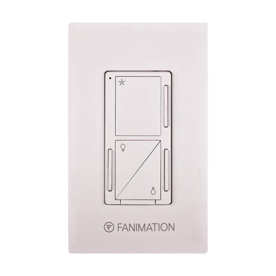 Fanimation 3-Speed White Wall-Mount Ceiling Fan Remote Control Wc3wh