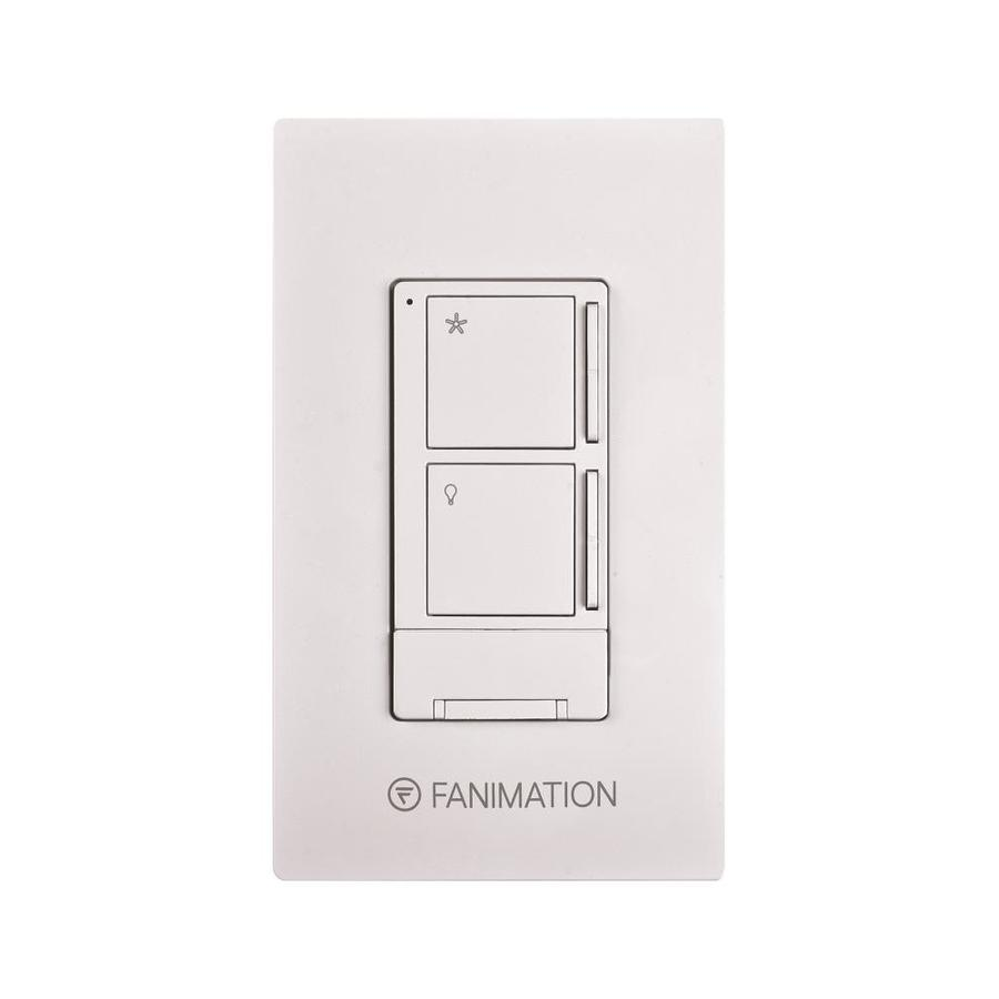 Fanimation 3-Speed White Wall-Mount Ceiling Fan Remote Control Wr501wh