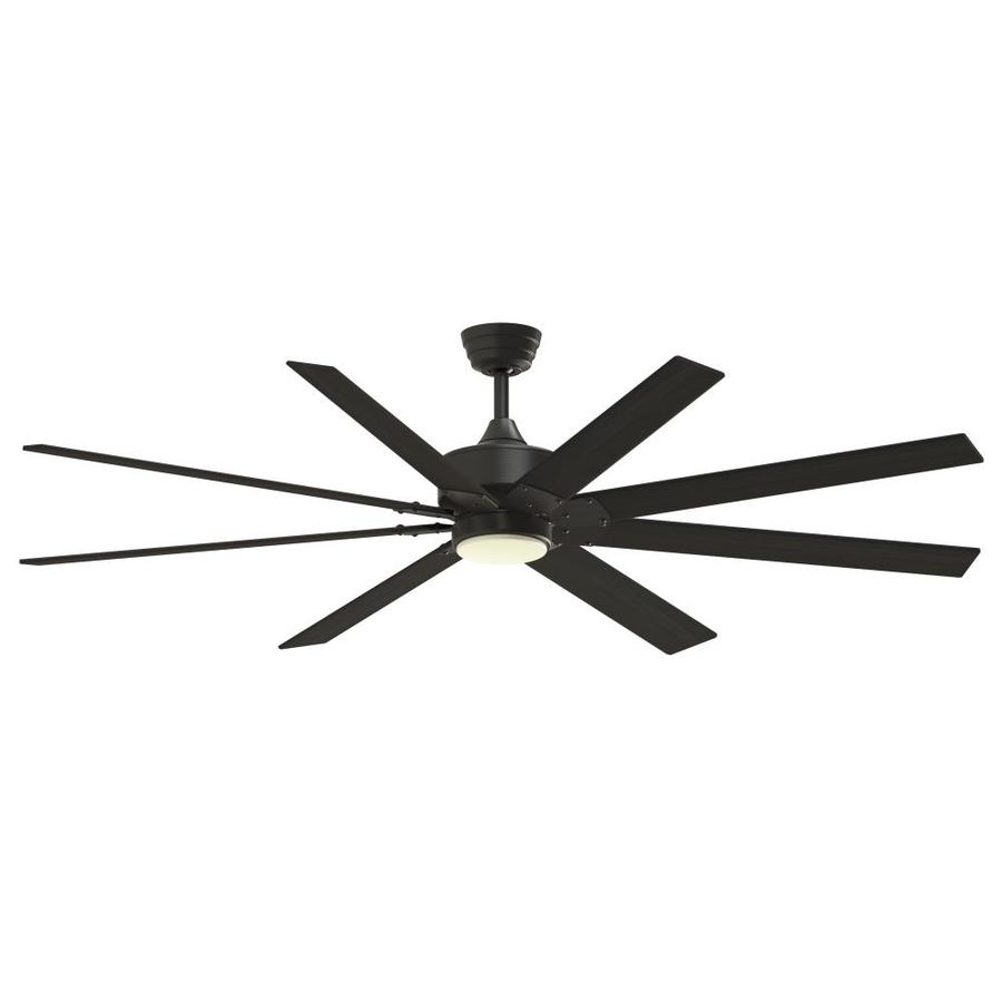 Fanimation Levon Custom 72-In Bronze Led Indoor/Outdoor Ceiling Fan With Light Kit And Remote (8-Blade) Fpd7912bdz-72Dwa