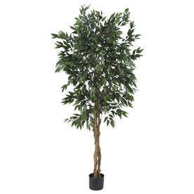 Nearly Natural 60-In Green Silk Tree 5266