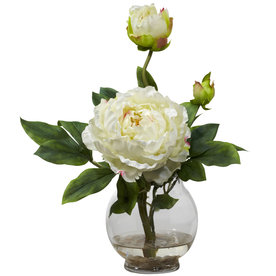 Nearly Natural 13.5-In White Silk Arrangement 1278-Wh