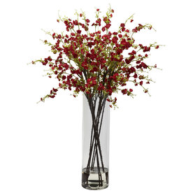 Nearly Natural 38-In Red Silk Arrangement 1316-Rd