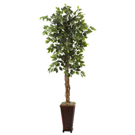 Nearly Natural 78-In Green Silk Tree 5925