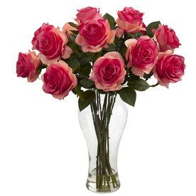 Nearly Natural 18-In Light Pink Silk Arrangement 1328-Dp