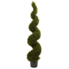 Nearly Natural 72-In Green Rosemary 5468