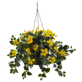 Nearly Natural 22-In Yellow Hibiscus 6866-Yl