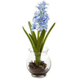 Nearly Natural 14-In Blue Hyacinth 1414-Bl