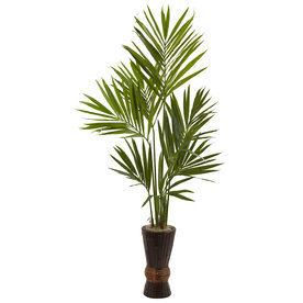 Nearly Natural 72-In Green Kentia 5942