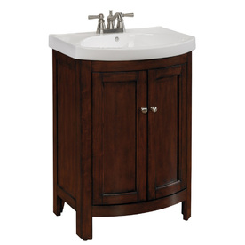 display product reviews for moravia sable integral single sink bathroom vanity with vitreous china top - Bathroom Cabinets Lowes