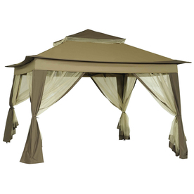 SunJoy Portia Beige Steel Square Pop-Up Gazebo (Exterior.  sc 1 st  Nextag : 8x10 pop up canopy - memphite.com