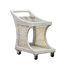 Dynasty Sunjoy Taupe Aluminum Outdoor Serving Cart 110210003