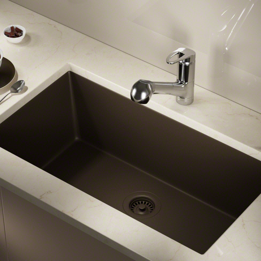 Mr Direct 32.63-In X 18.38-In Mocha Single Bowl Undermount Commercial/Residential Kitchen Sink 848-M-Cfl