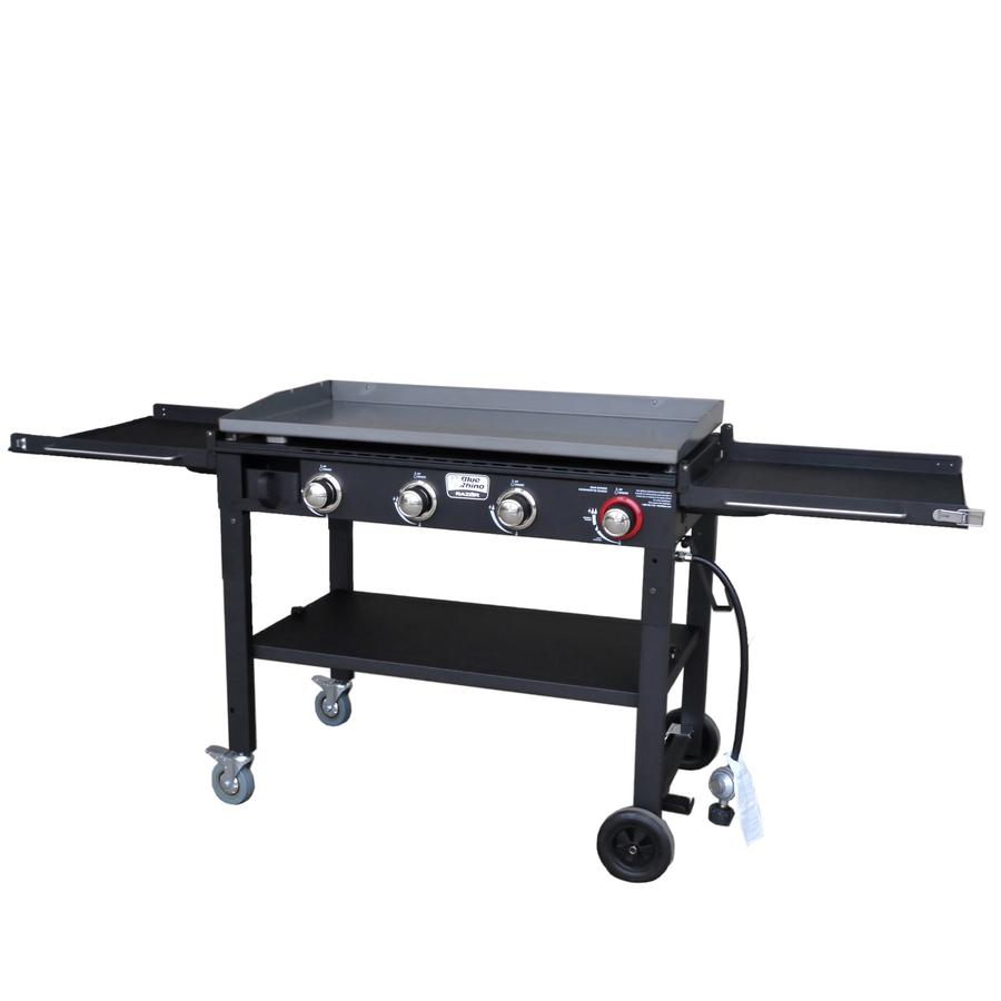 4-Burner Liquid Propane Flat Top Grill Stainless Steel in Black   - Blue Rhino GGC1643L