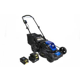 Kobalt Cordless Electric Push Lawn Mower with 2 Batteries
