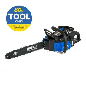80-volt Lithium Ion 18-in Brushless Cordless Electric Chainsaw (Battery Not Included) - Kobalt KCS 180B