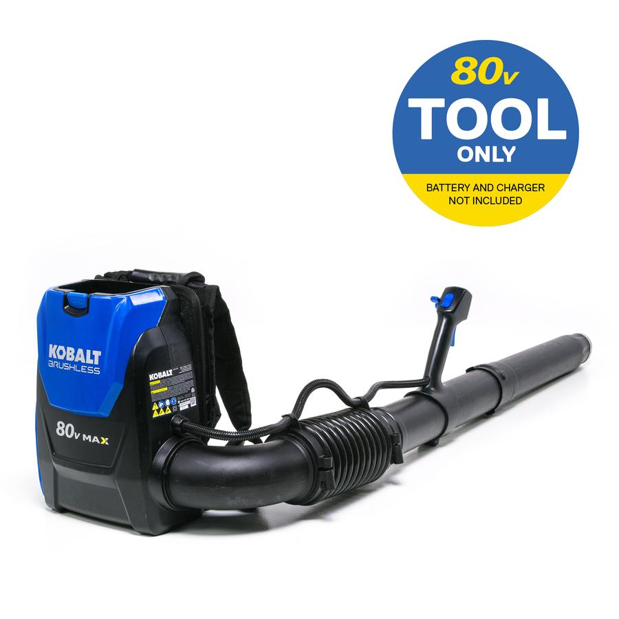 80-Volt Max 145-MPH Brushless Backpack Cordless Electric Leaf Blower (Battery Not Included) in Black | - Kobalt KBB 600B-06