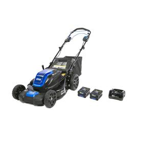 80-volt Brushless Lithium Ion 21-in Self-Propelled Cordless Electric Lawn Mower (Batteries Included) - Kobalt KMP 2580-06