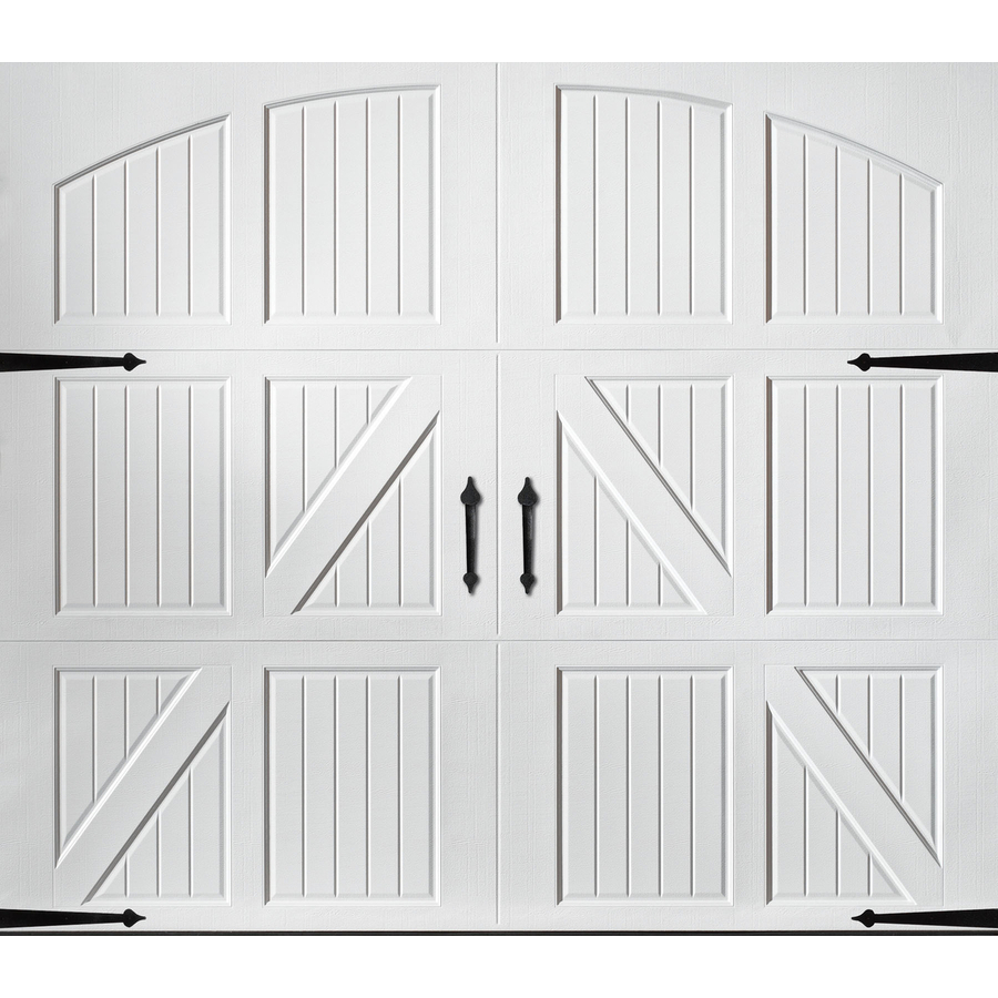Shop Pella Carriage House 9 Ft X 7 Ft White Garage Door At