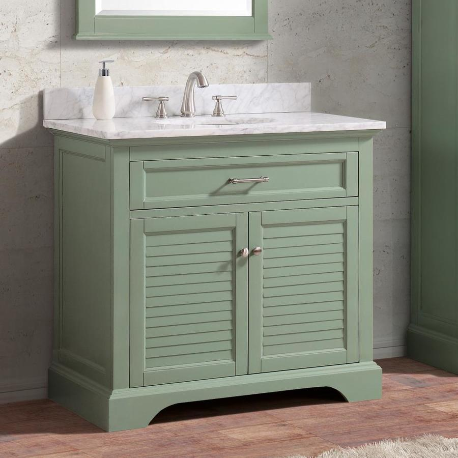 Avanity Colton 36 In Basil Green Bathroom Vanity Cabinet In The Bathroom Vanities Without Tops Department At Lowes Com