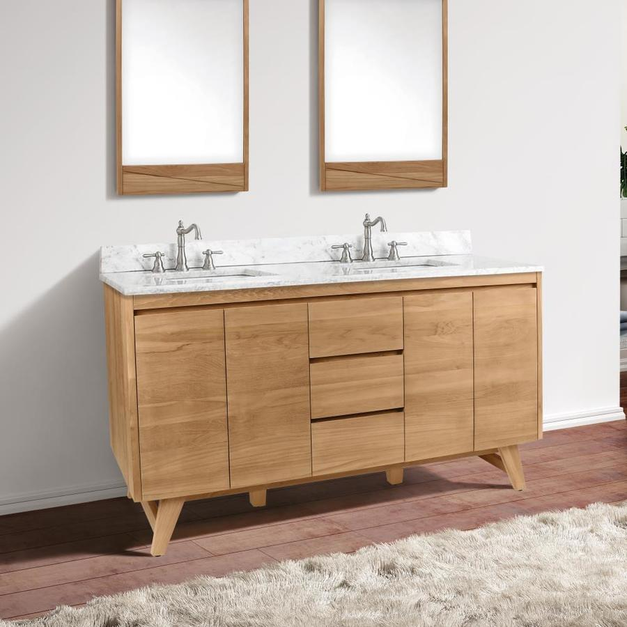 Avanity Coventry 60 In Natural Teak Bathroom Vanity Cabinet In The Bathroom Vanities Without Tops Department At Lowes Com