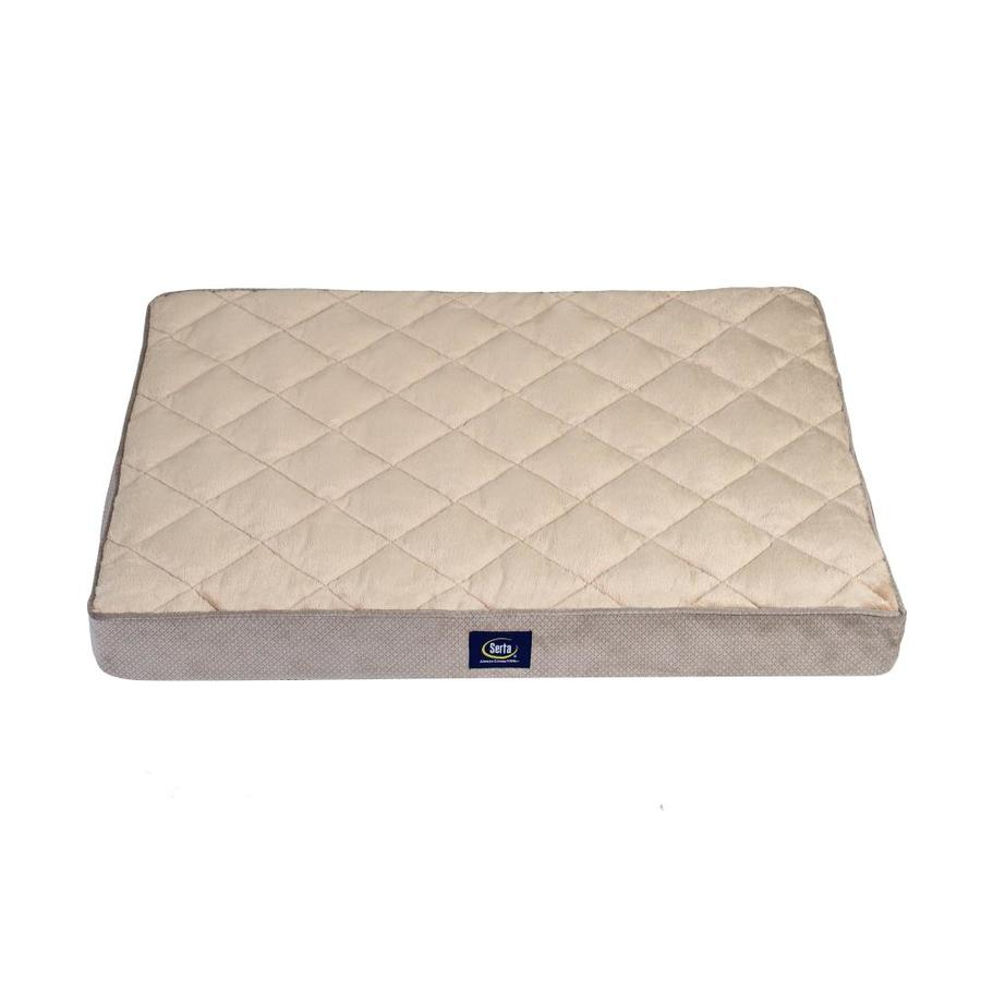 Gray 100% Polyester Rectangular Dog Bed (For Fits Most)   - Serta 2567465