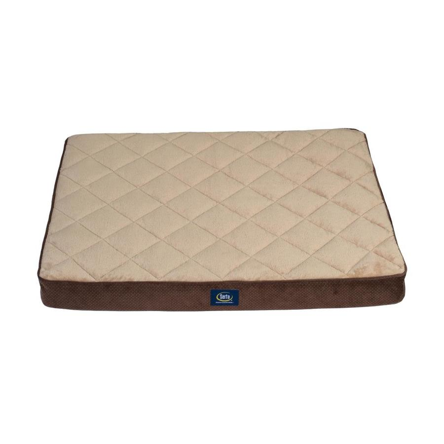 Brown 100% Polyester Rectangular Dog Bed (For Fits Most)   - Serta 2567466