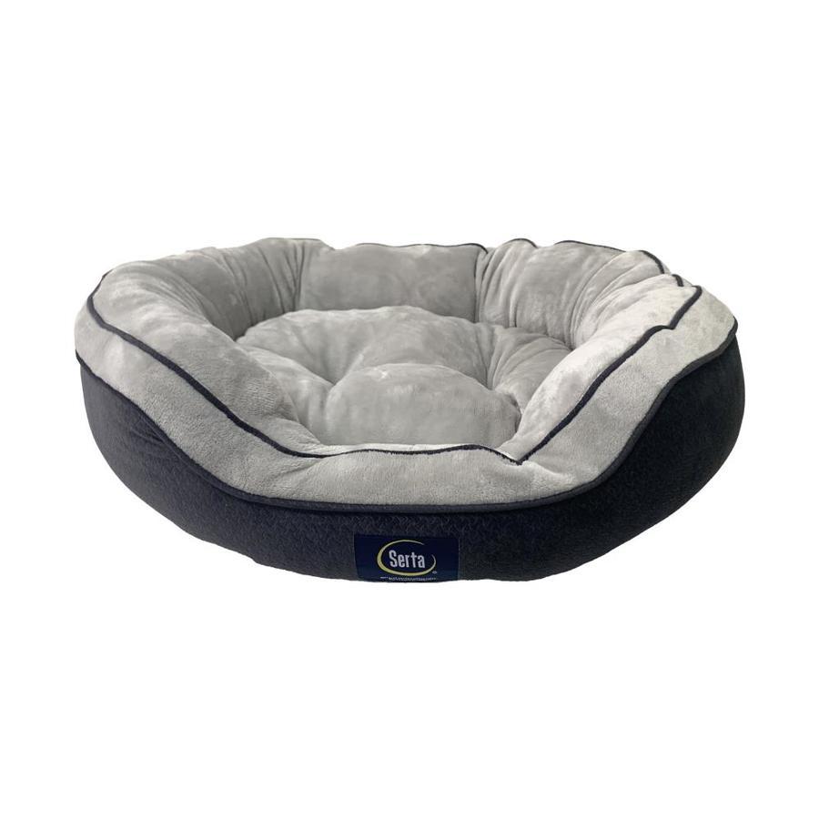 Gray 100% Polyester Oval Dog Bed (Medium)   - Serta 2610351
