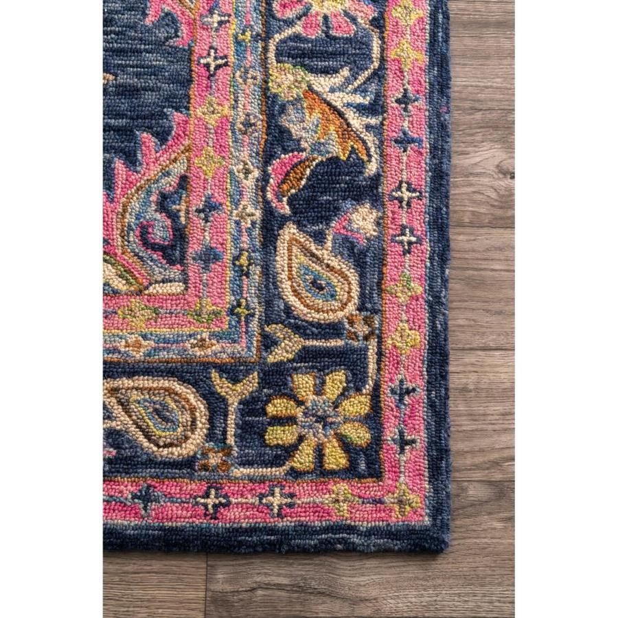 Nuloom 5 X 8 Navy Indoor Bohemian Eclectic Handcrafted Area Rug In The Rugs Department At Lowes Com