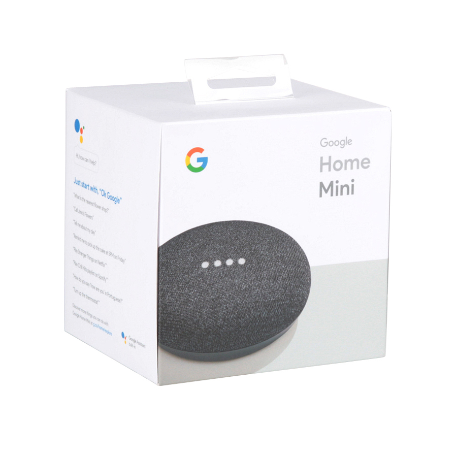 Google Home Mini With Google Assistant Charcoal In The Smart Hubs Department At Lowes Com