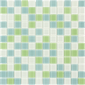 Upc 843336000364 Product Image For Elida Ceramica Lime Multicolor Gl Mosaic Square Indoor Outdoor Wall