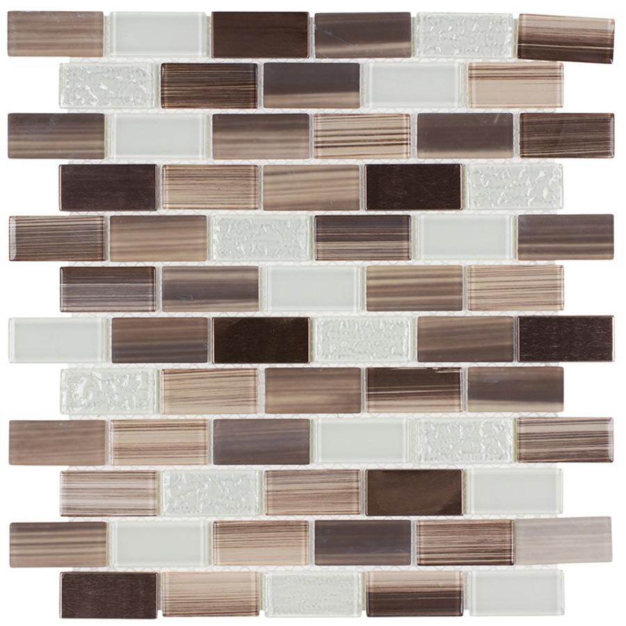- Elida Ceramica Sicily Brick Mosaic Glass And Metal Wall Tile