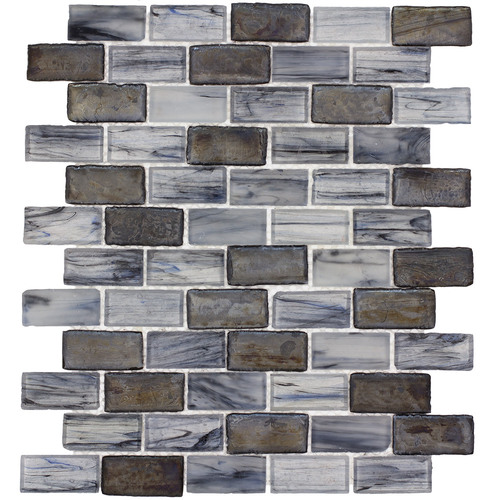 Elida Ceramica Melted Glacier Brick Mosaic Gl Wall Tile Common