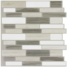 white tile floor. Display product reviews for Beige Mist Linear Mosaic Composite Wall Tile  Common 10 Shop at Lowes com