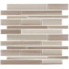 display product reviews for brushed sand linear mosaic glass wall tile common 12