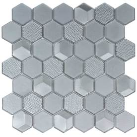 Display Product Reviews For Moonlight Hex Mosaic Gl Wall Tile Common 12 In