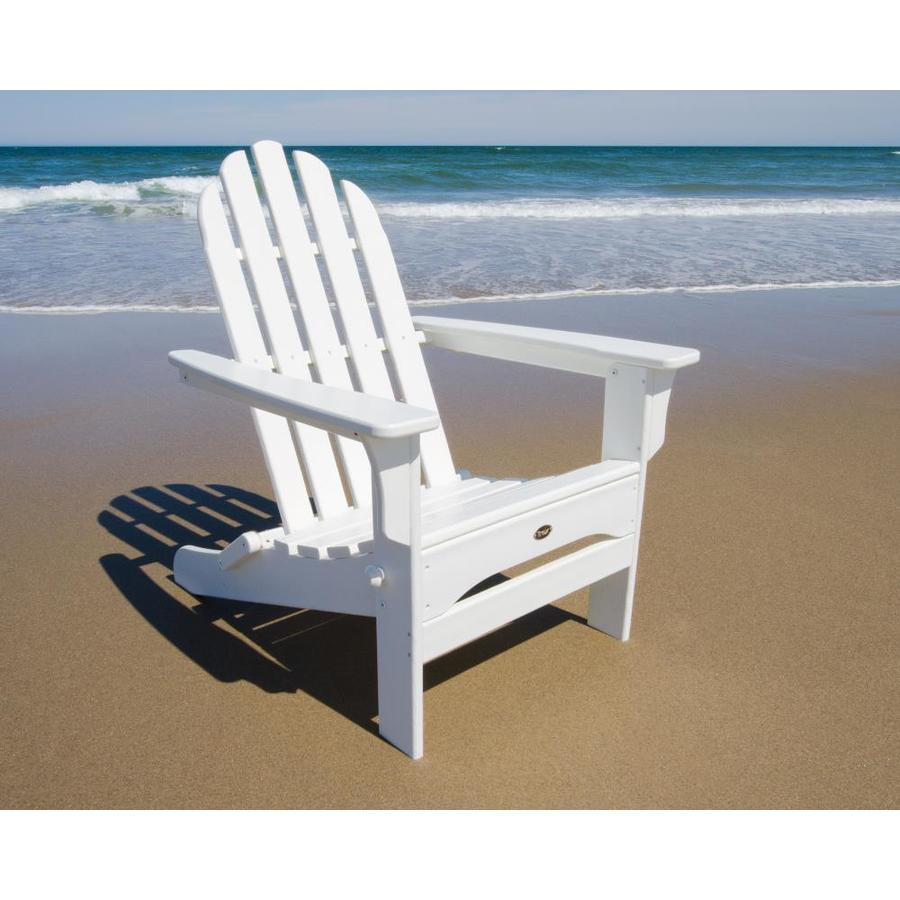 shop trex outdoor furniture cape cod classic white plastic adirondack chair at. Black Bedroom Furniture Sets. Home Design Ideas