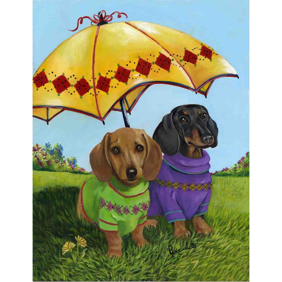 Shop Precious Pet Paintings 18 In X 12 5 In Dogs Flag At