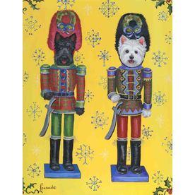 Precious Pet Paintings 1.5-ft x 1.04-ft Multi-Breed Christmas Flag GF507