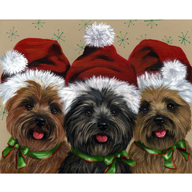 Precious Pet Paintings 3.33-ft x 2.33-ft Cairn Terrier Christmas Flag LF523