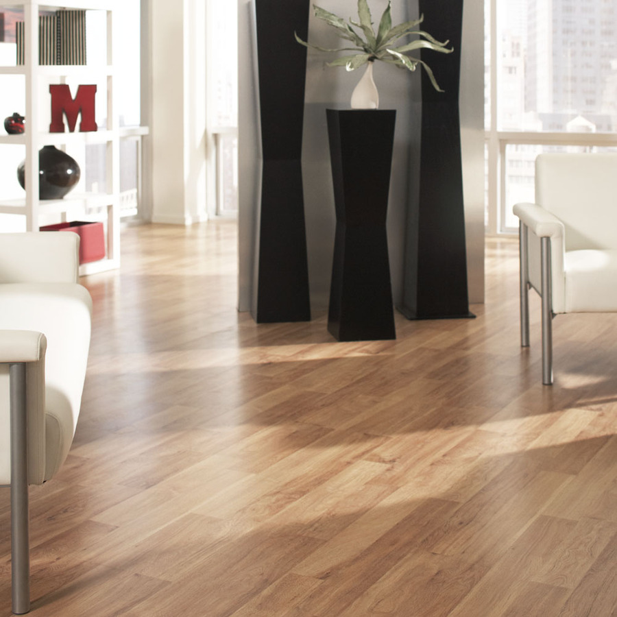 Style Selections Ginger Hickory 8 05 In W X 3 97 Ft L Smooth Wood