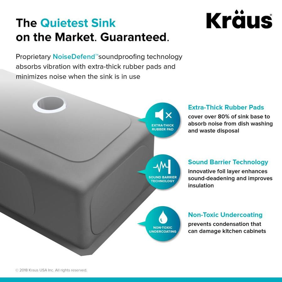 Kraus Standart Pro Undermount 21 In X 18 In Stainless Steel Single Bowl Kitchen Sink In The Kitchen Sinks Department At Lowes Com