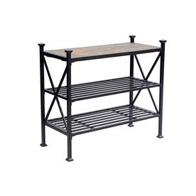 SunJoy 18.11-In W X 40-In L Rectangle Steel End Table L-D...