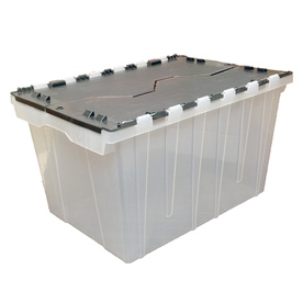 Display product reviews for 12-Gallon Clear Tote with Hinged Lid  sc 1 st  Loweu0027s & Shop Plastic Storage Totes at Lowes.com