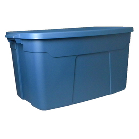 Centrex Rugged Tote 31-Gallon (124-Quart) Blue Tote With Standard Snap Lid 831512