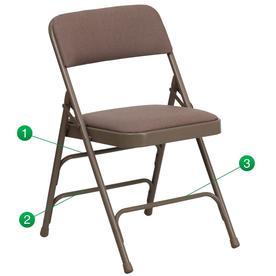 Flash Furniture Indoor/Outdoor Steel Standard Folding Chair 847254020558
