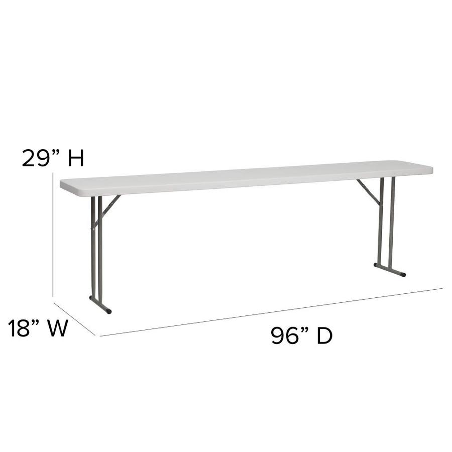 Flash Furniture 2 Ft X 8 Ft Indoor Rectangle Plastic White Folding Banquet Table In The Folding Tables Department At Lowes Com