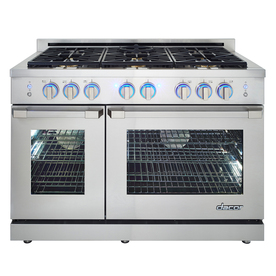 Dacor Renaissance 48-In 6-Burner 5.2-Cu Ft / 2.8-Cu Ft Se...